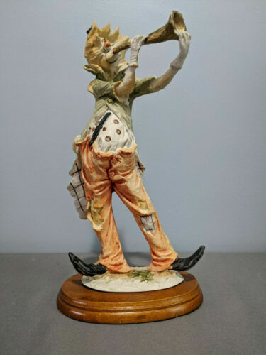 Pucci Vintage Clown HOBO figurine Resin Figurine Playing Horn
