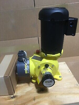 Lmi Metering Pump Sg63j8p 147 Gph 100 Psi Pvc Manual Control 230460 3 Phase