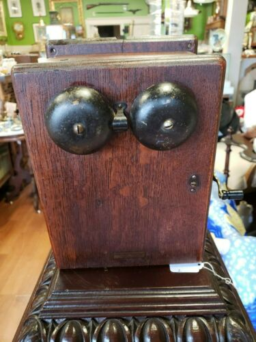 Antique Western Electric Telephone Call Box  Circa  1890-1920