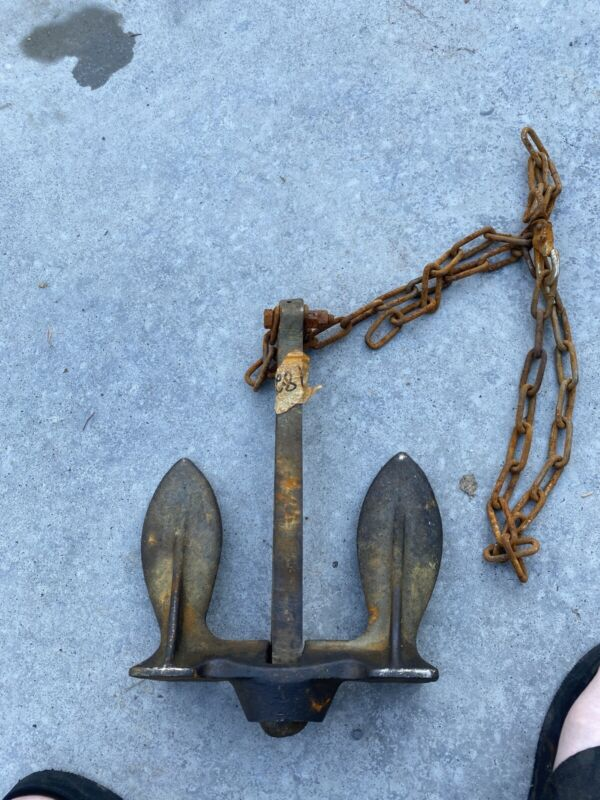10lb Rusty Stockless Boat Anchor -vintage Iron