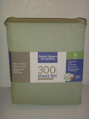 Better Homes &Gardens 300 Thread Count 4-PC QUEEN Q SHEET SET 100% COTTON