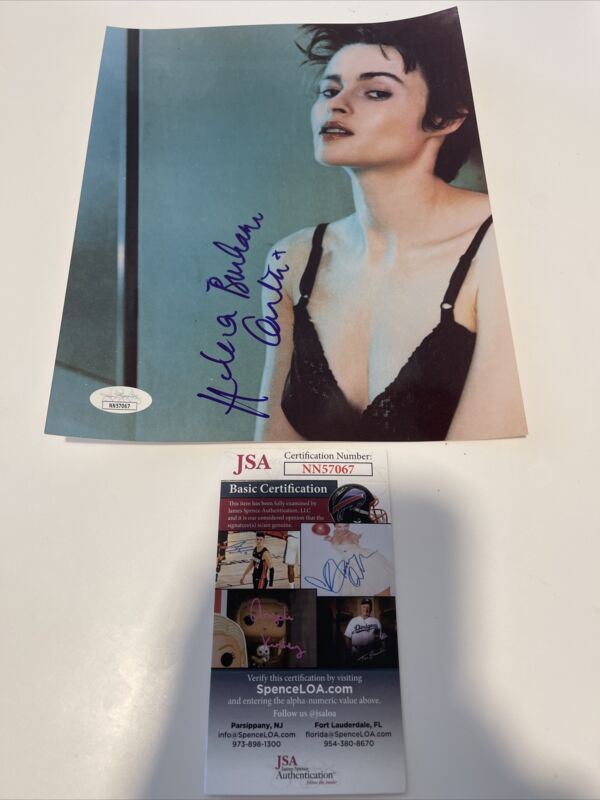 Autographed Helena Bonham Carter Signed 8x10 Photo Jsa Coa Harry Potter Belatrix