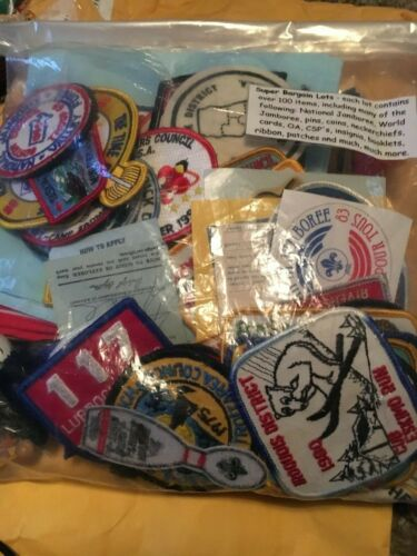 BSA Boy Scouts Of America Patch Pin Super Bargain Lot 100 Pieces