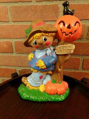 Super Cute Vintage Halloween Ceramic Scarecrow Black Bird Pumpkins For Sale...