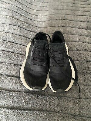 adidas black trainers women running sport comfy size 4 used nmd
