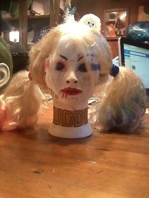 HARLEY QUINN JOKER GIRLFRIEND DC COMIC ANTI HERO HALLOWEEN PROP MANNEQUIN HEAD.  - Halloween Mannequin Head