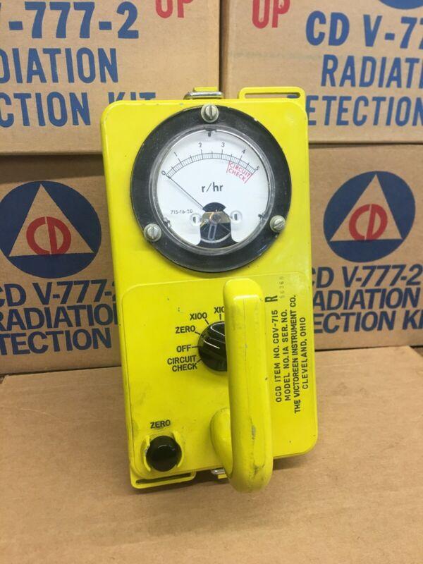 CIVIL DEFENSE VICTOREEN INSTRUMENT CDV-715 MODEL 1A RADIATION DETECTOR (56368)