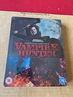 Abraham Lincoln Vampire Hunter (2012) 3D & 2D Blu ray Steelbook -...