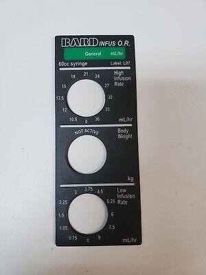Baxter Infus Or Syringe Pump General Smart Label L07