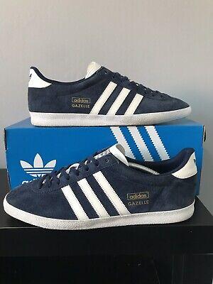 Adidas Originals Gazelle OG trainers Navy Blue/White size UK11