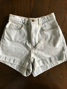 American Apparel high-waisted shorts