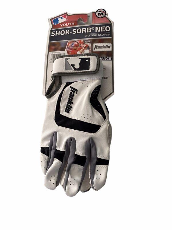 Franklin Batting Gloves Medium SHOK-SORB NEO YOUTH