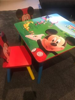 Mickey Mouse Club House Kids Table and Chair