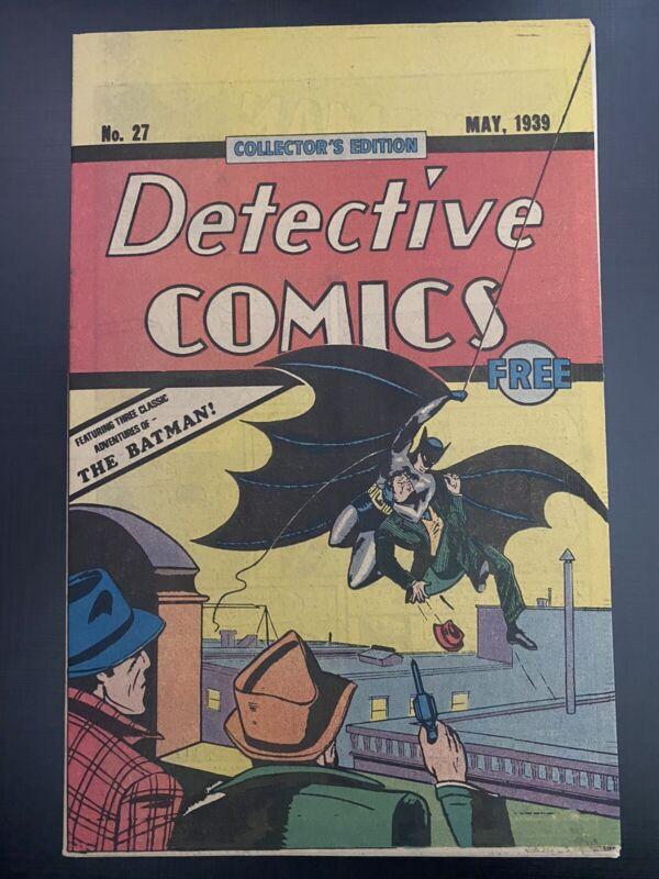 Detective Comics #27 (Reprint) Giveaway 1st Batman, Joker DC 1984 Nabisco