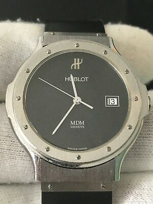 HUBLOT MDM 1523.1 36mm Full Set Seymora Black Dial Men Watch ! Classic HUBLOT !