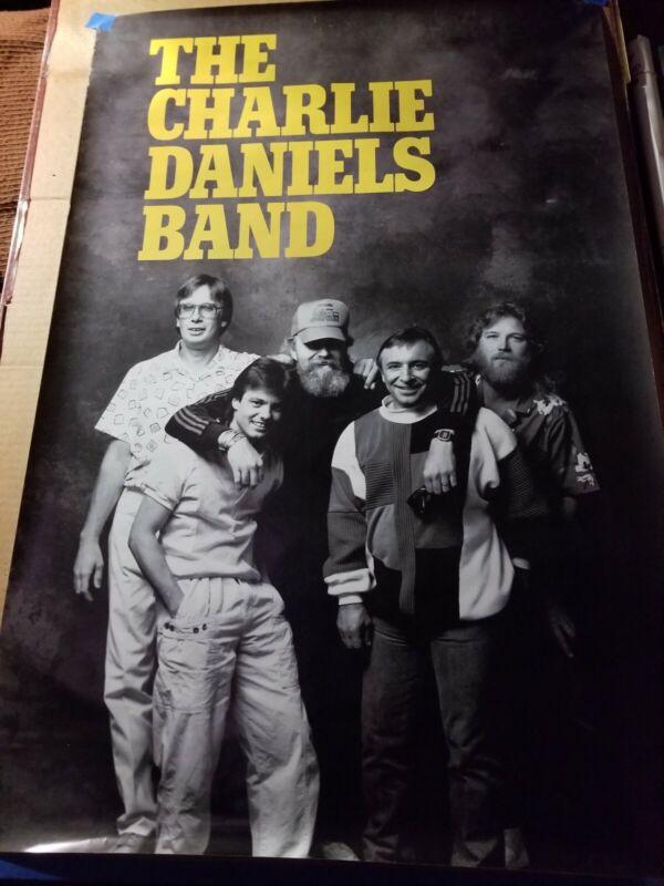CHARLIE DANIELS BAND PROMO POSTER 1987