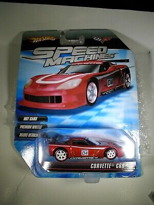 Hot Wheels SPEED MACHINES RED Chevy Corvette C6R Chevrolet COOL CAR!