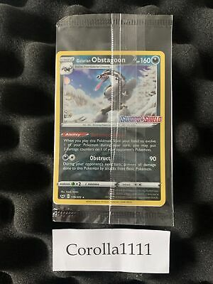 Galarian Obstagoon 119/202 Sword & Shield Stamped PROMO SEALED Pokemon
