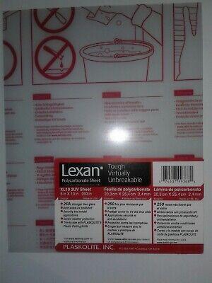 Lexan Clear Polycarbonate Sheet 8x10