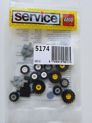 Lego 5174 Vintage Wheels & Bearings Service Pack - 1980's - NEW NISB NIB MIB