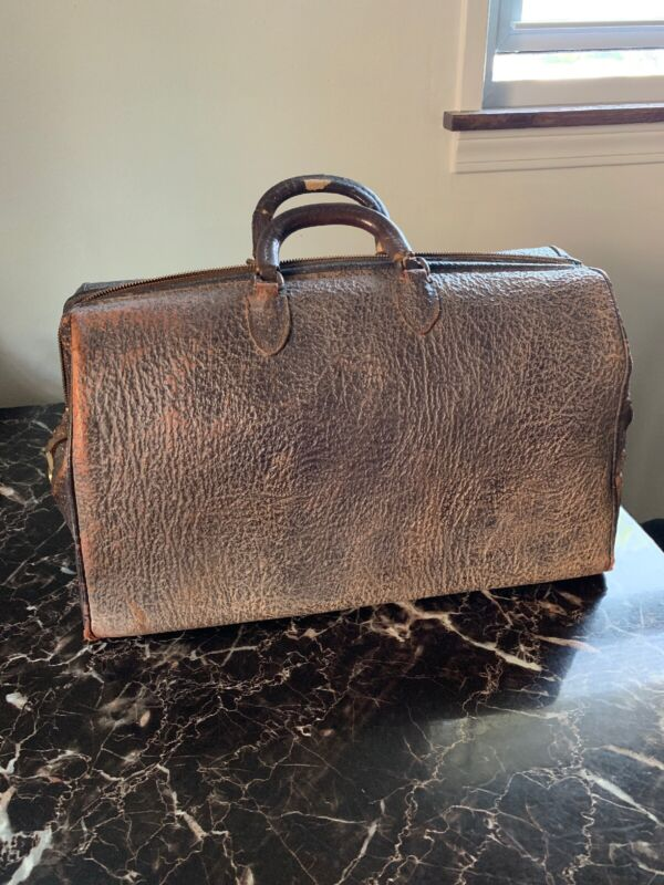 VTG EXCELSIOR BROWN MEDICAL LAWYER DOCTOR BAG TRAVEL LEATHER LUGGAGE BRIEFCASE