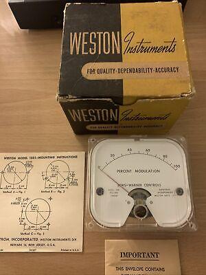 Weston Instruments Model 1331 Percent Modulation Meter New In Box Borg-warner