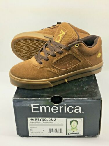 Emerica Reynolds 3 Khaki Collab Special Edition Skate Shoe SIZE 6 / 38