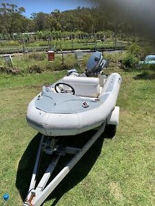 Inflatable Avon boat with 30hp Yamaha outboard