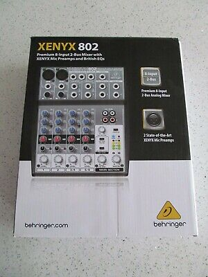 Mixer Mixing Board Behringer Xenyx 802. Buy it now for 90.0
