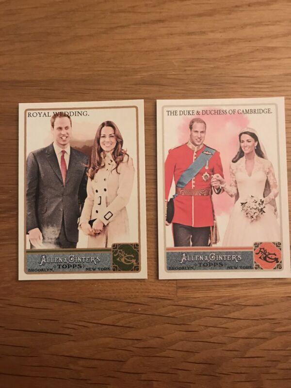 2011 Allen & Ginter Duke and Duchess of Cambridge Glossy #'d 582/999
