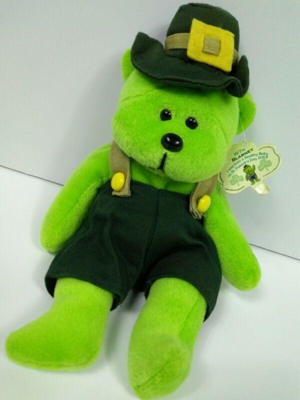 "March Of Dimes St Patrick Day 2003 Green BLARNEY Irish Leprechaun Bear 9"" Plush"