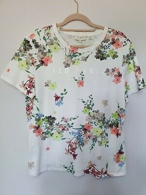Ted Baker Floral T-shirt Size 14