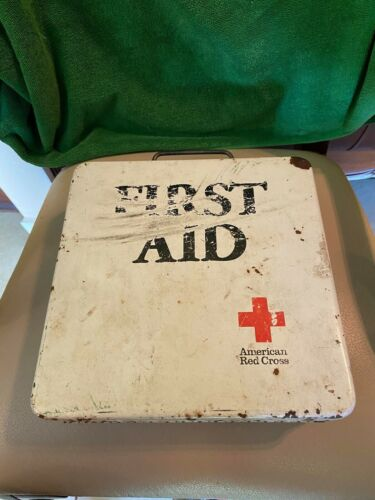 american red cross first aid kit vintage