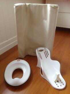 ESSENTIALS PACKAGE: TOILET TRAINER, CHANGEMATS AND BATH SEAT