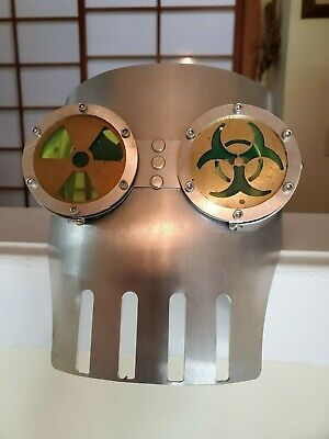 Aluminum Toxic Robot SteamPunk Face Mask - Great For Halloween!