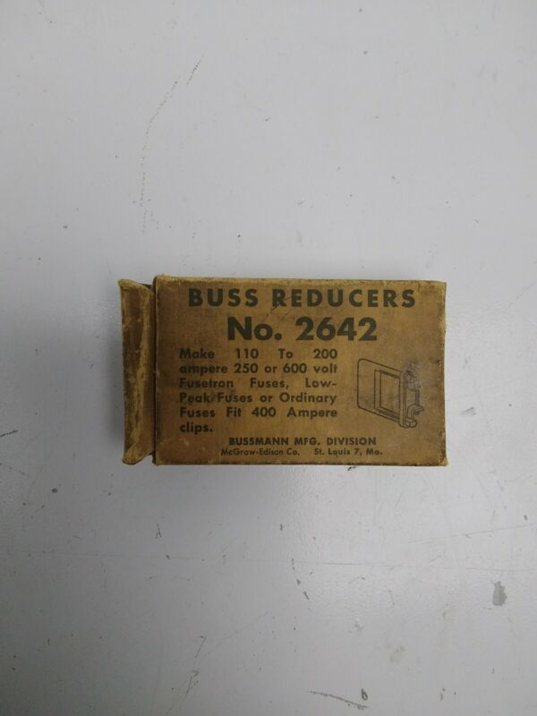 Bussmann Buss Reducers No. 2642, New Old Stock!