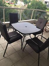 Outdoor Furniture - 5 piece Dining Set with glass top table Woolloomooloo Inner Sydney Preview