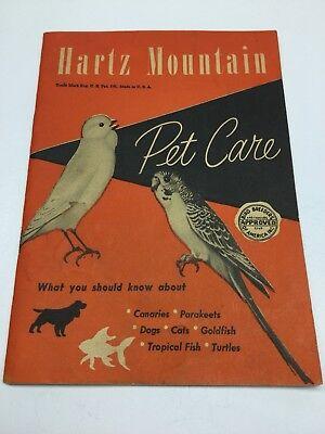 Vintage 40S – 50S Hartz Mountain Pet Care Product Catalog