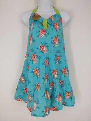 Kay Dee Designs Conch Aqua Coral Girlie Kitchen Apron One Size New With Tags