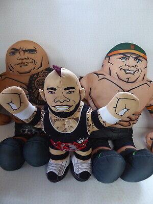 "WWE Superstar Buddy The Rock & John Cena 26"" - Brawlin' Buddies Brodus Clay 16"""