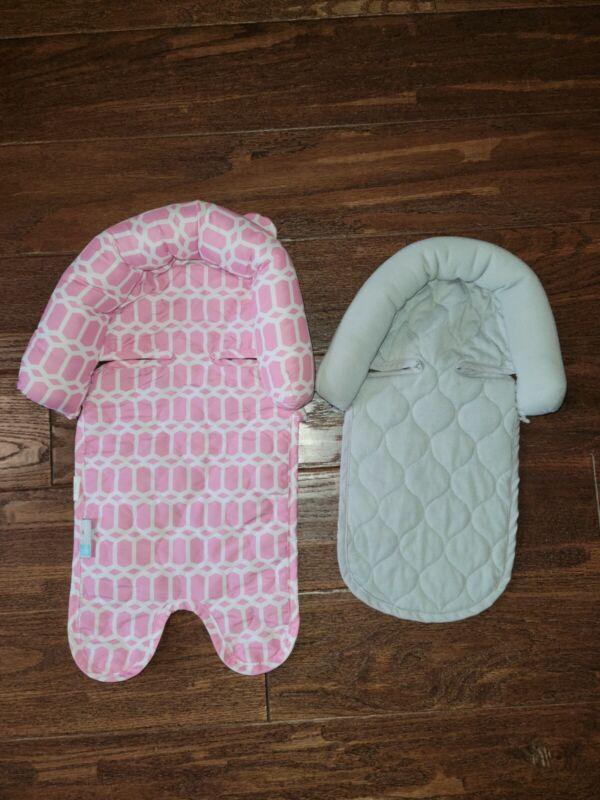 Goldbug Infant Carseat Headrest Insert Pink White Gray insert lot