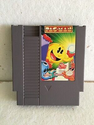 PAC-MAN NES NAMCO VERSION Tested And Works!!! With Plastic Sleeve.