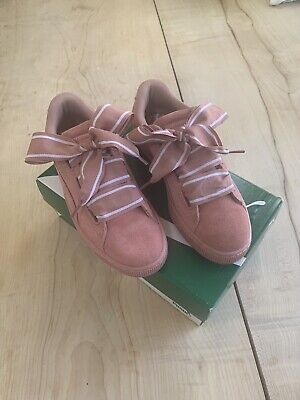 Puma Pink Suede Heart Trainers Size 6 Boxed Bought From Selfridges For £79.99