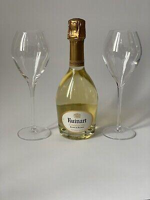 Ruinart Blanc De Blancs Champagner Flasche 0,375l 12%Vol + 2 Ruinart Gläser
