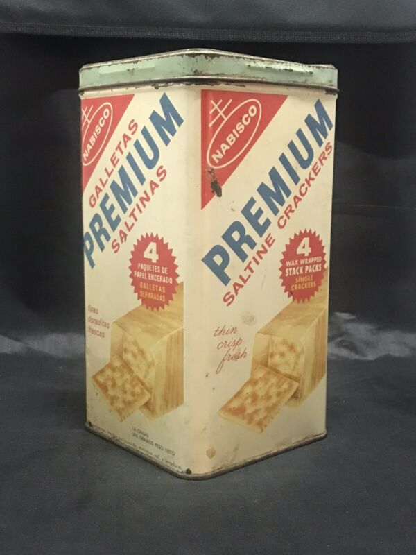 Vtg Collectible Nabisco Premium Saltine Crackers Advertg Spanish & English 1950s
