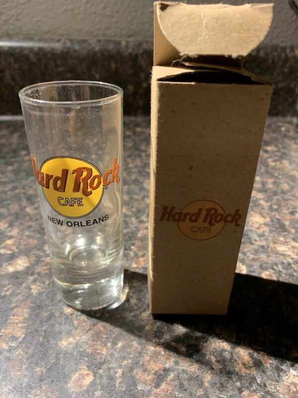 """Hard Rock Cafe Double 4"""" Tall Shot Glass New Orleans"""