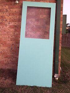Hume door 2040x820x35 w/window Albion Park Shellharbour Area Preview