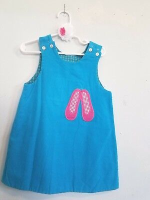 ILEY BOYS REVERSIBLE BALLET & SCHOOL BUS EMBROIDERED DRESS! (Girl, Boy, Mädchen Boutique)