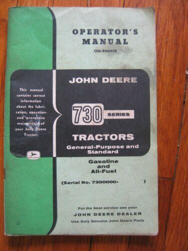 John Deere 730 Tractor operators manual ORIGINAL