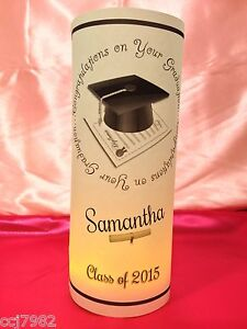 10 Personalized Graduation Luminaries Table Centerpieces Party Decorations #3